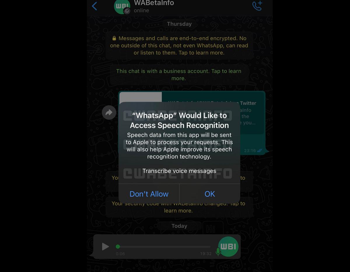 WhatsApp permitirá transcribir notas de voz.