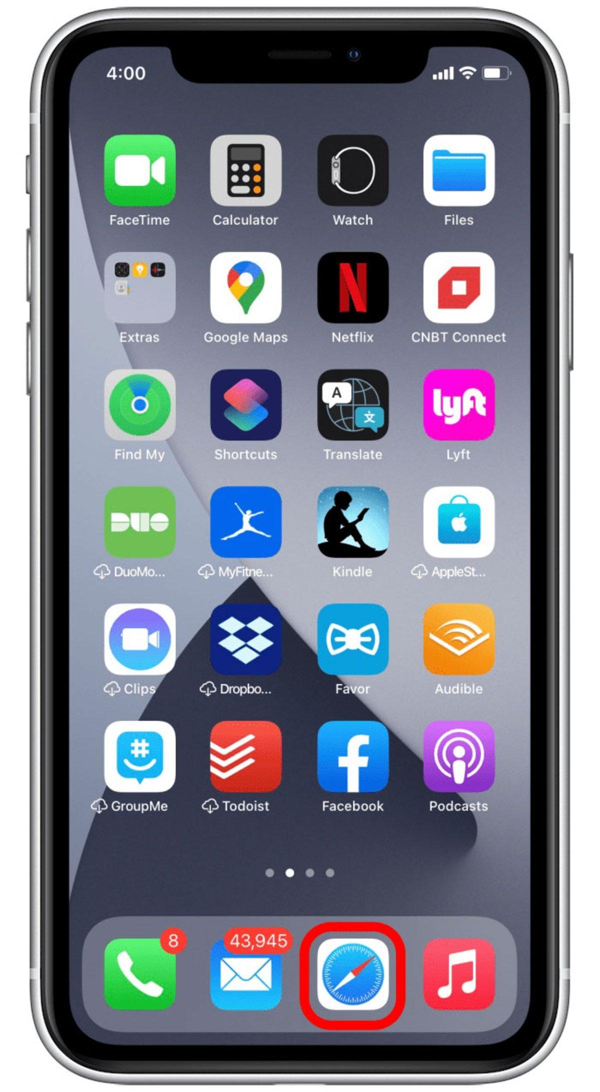 Abrir Safari iOS 15