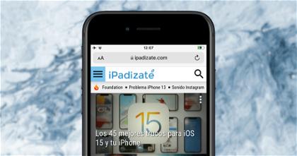 Cómo volver a poner la barra de direcciones de Safari arriba en iOS 15
