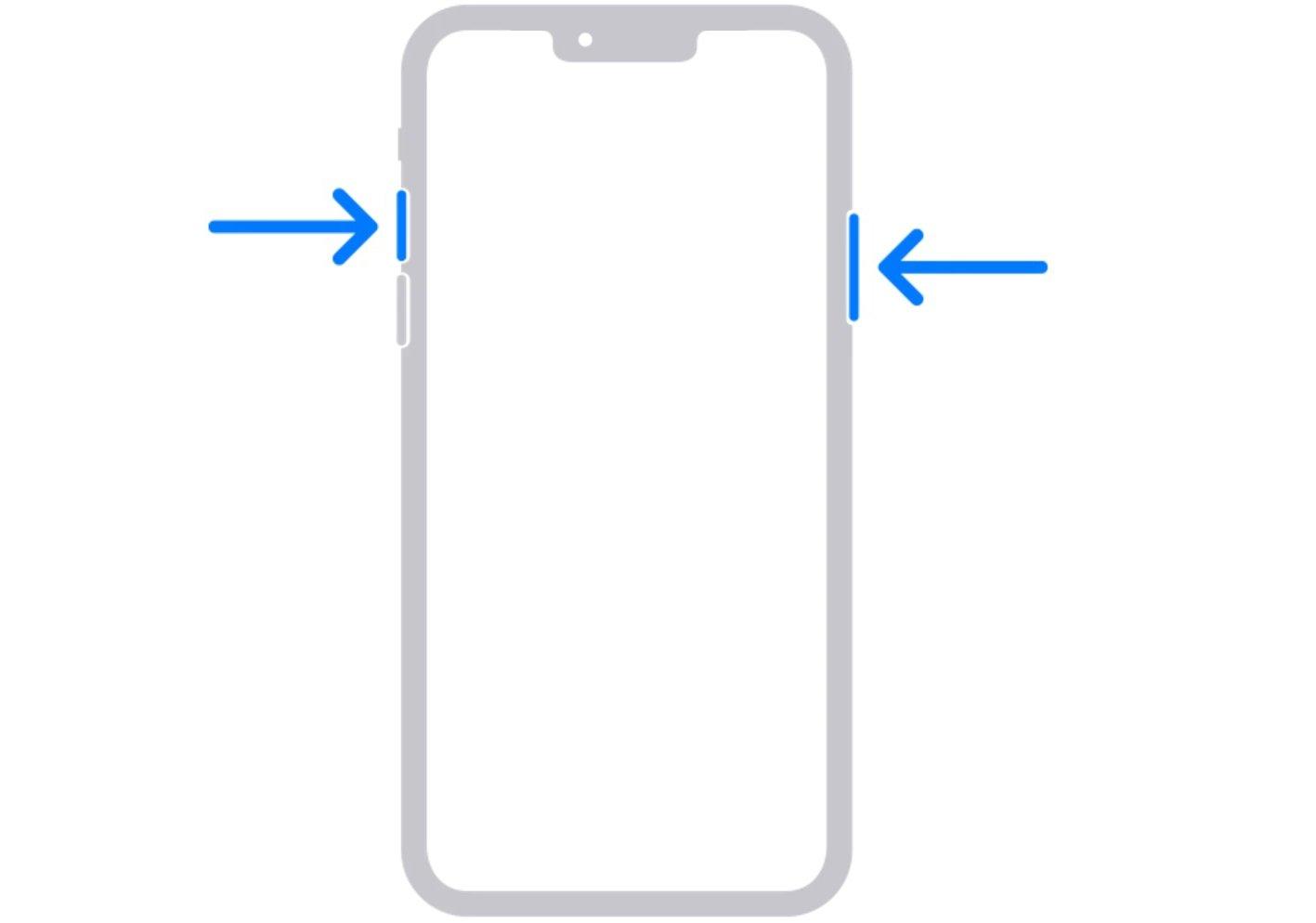 captura de pantalla en el iPhone 13