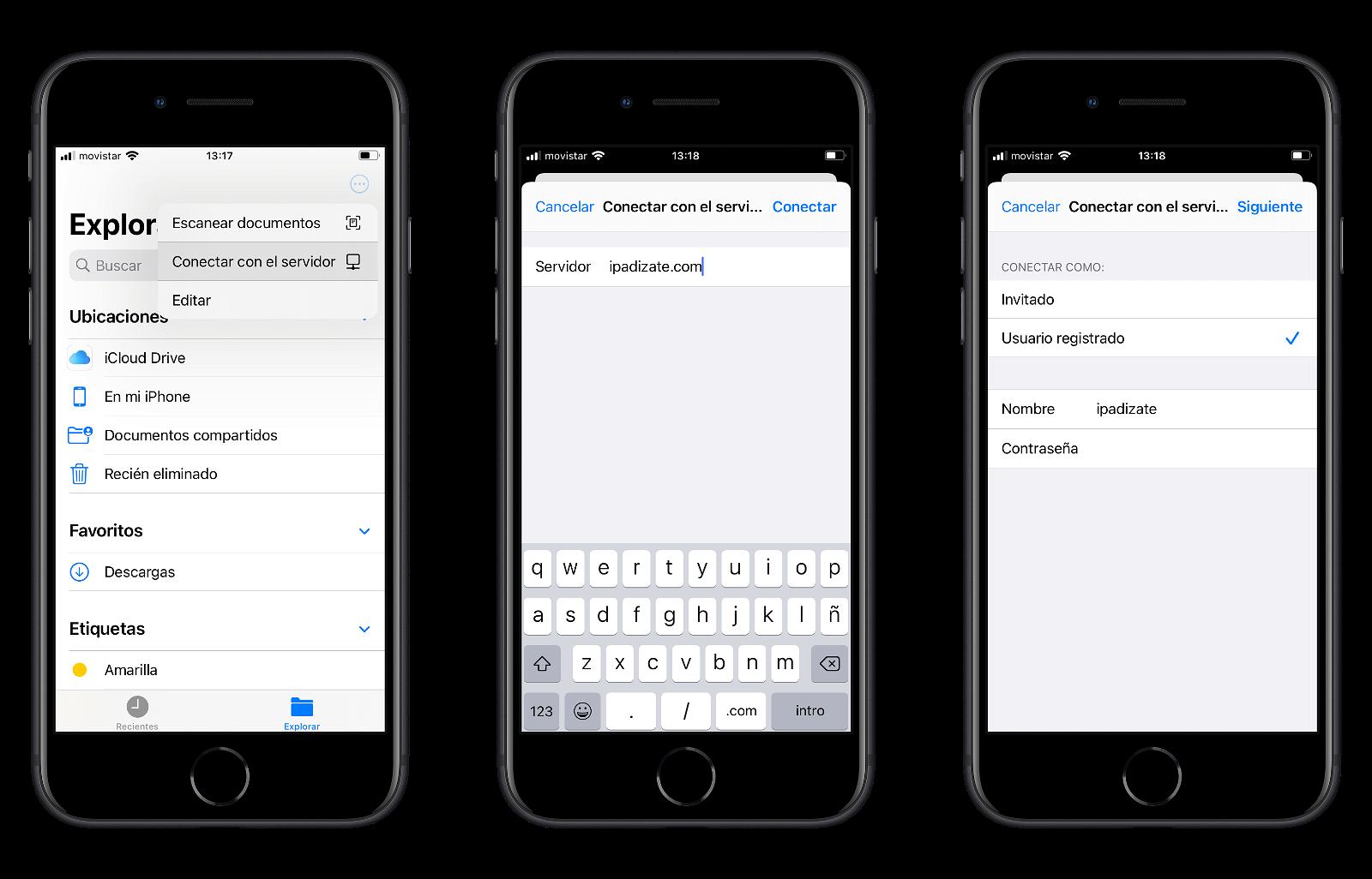 Conectar a disco duro en red desde la app archivos del iPhone o iPad
