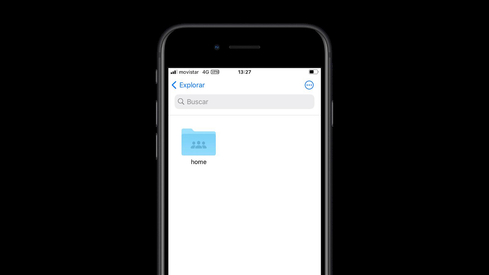 Disco en red desde el iPhone