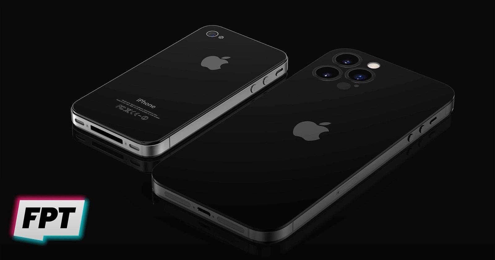 iPhone 14 y iPhone 4