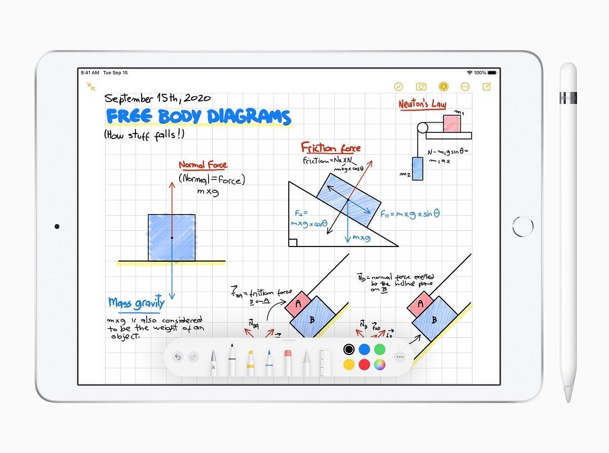 iPad de octava generación con Apple Pencil