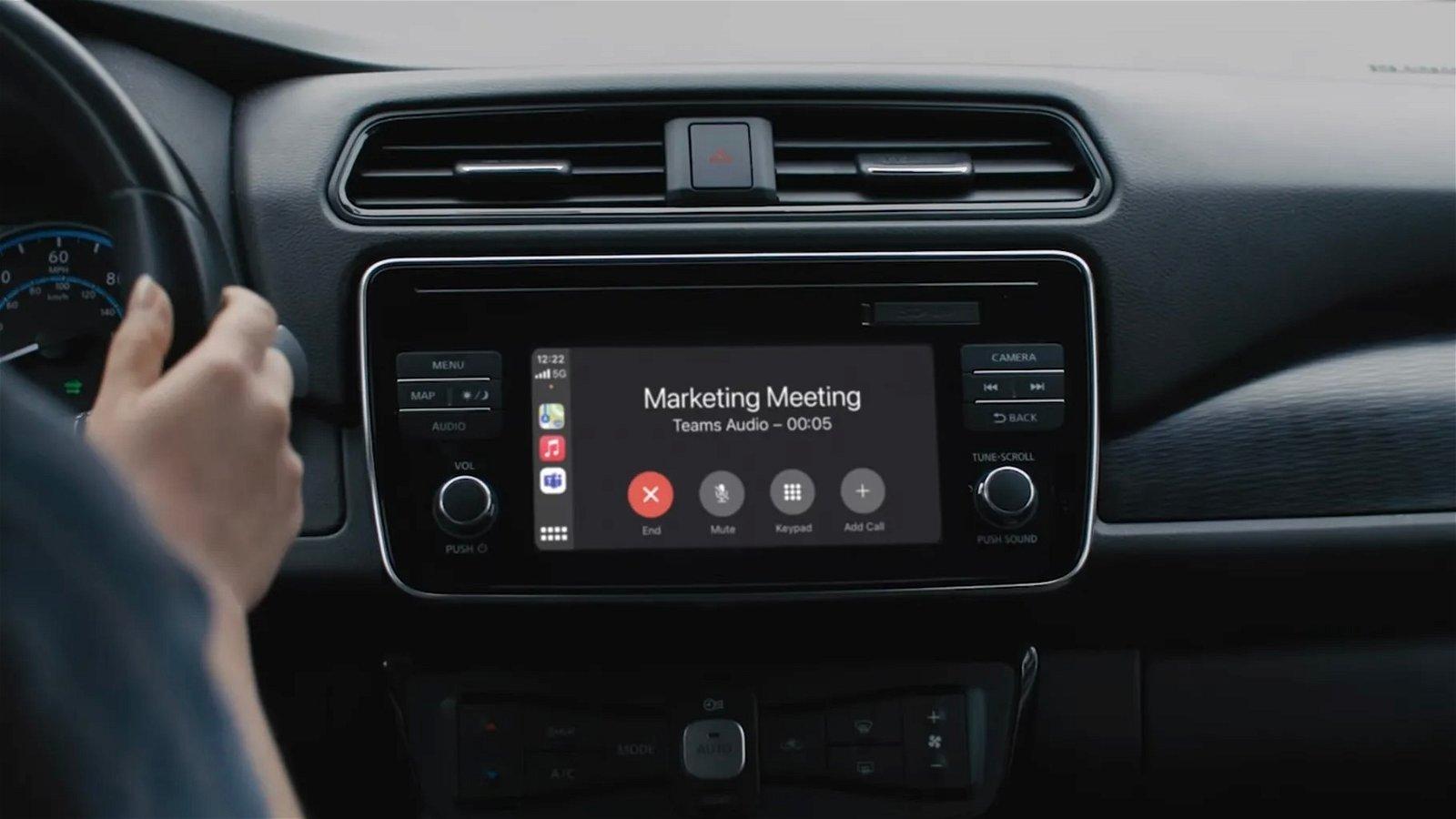 Soporte para Microsoft Teams desde Apple CarPlay