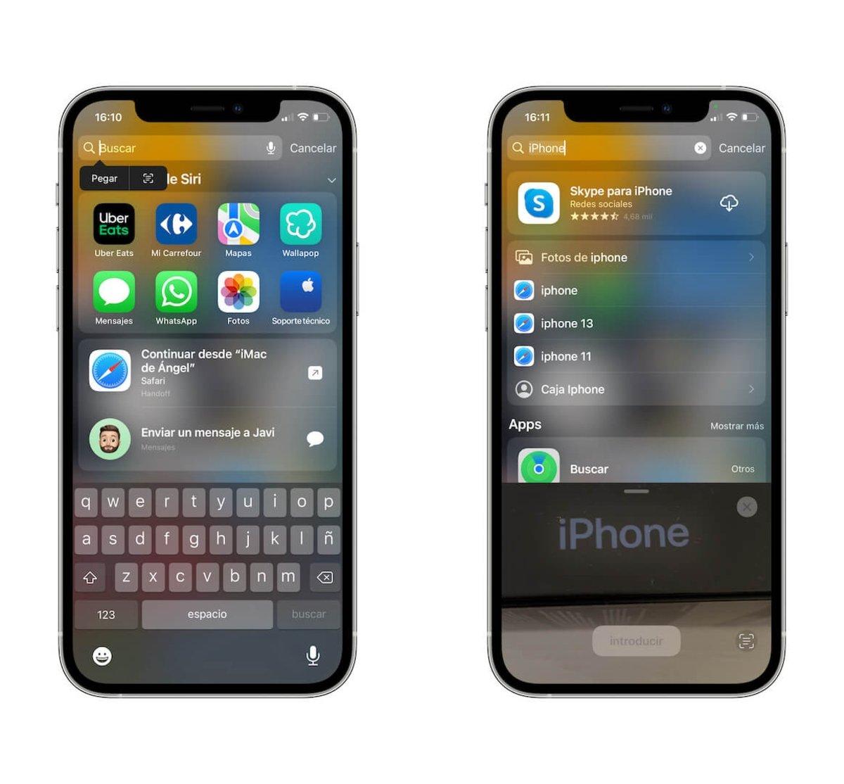 pegar texto desde Imagen en iOS 15
