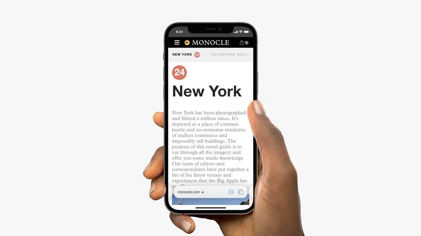 Safari en iOS 15