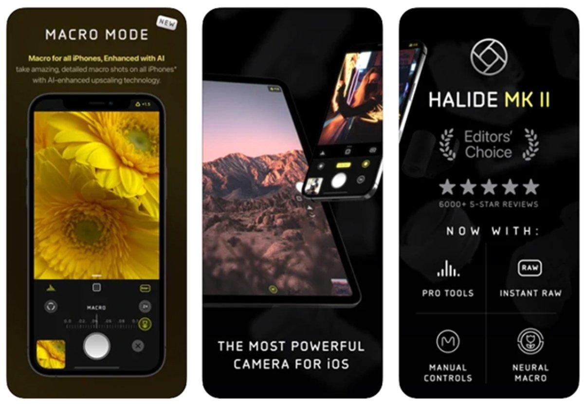Halide Mark II: aplicación de cámara muy completa