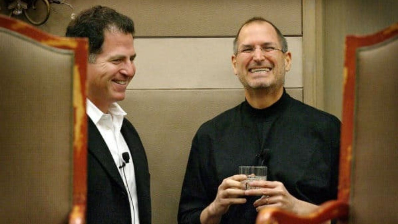 Steve Jobs y Michael Dell