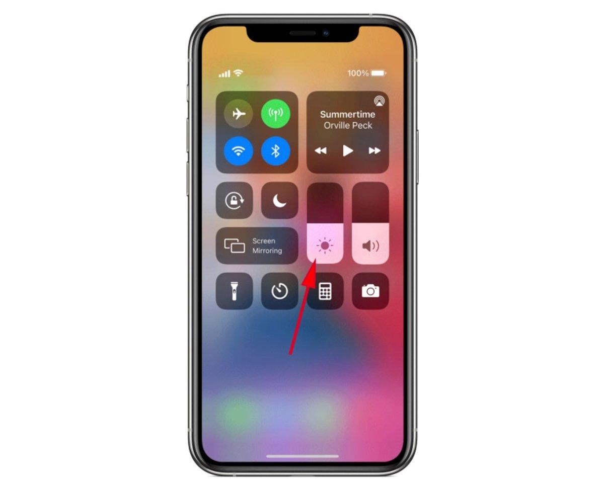 Ajustar brillo iPhone