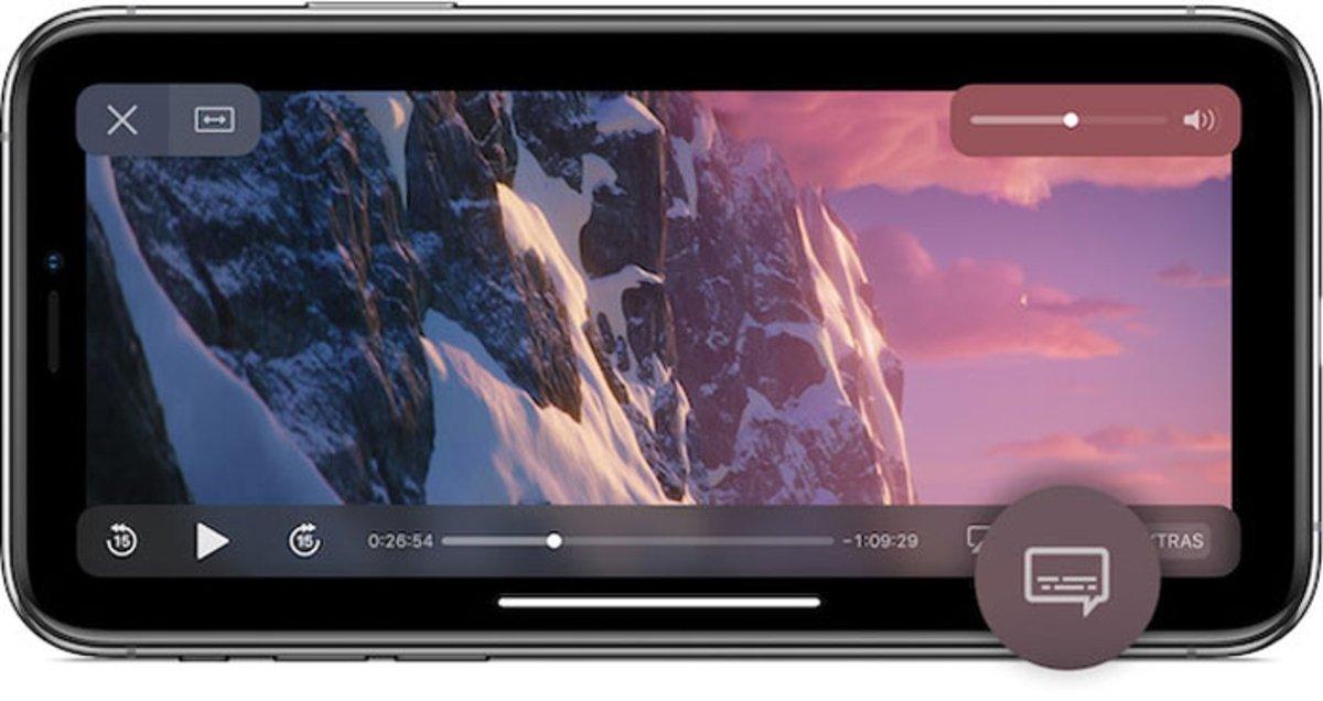 Apple TV cambiar idioma audio subtítulos iPhone