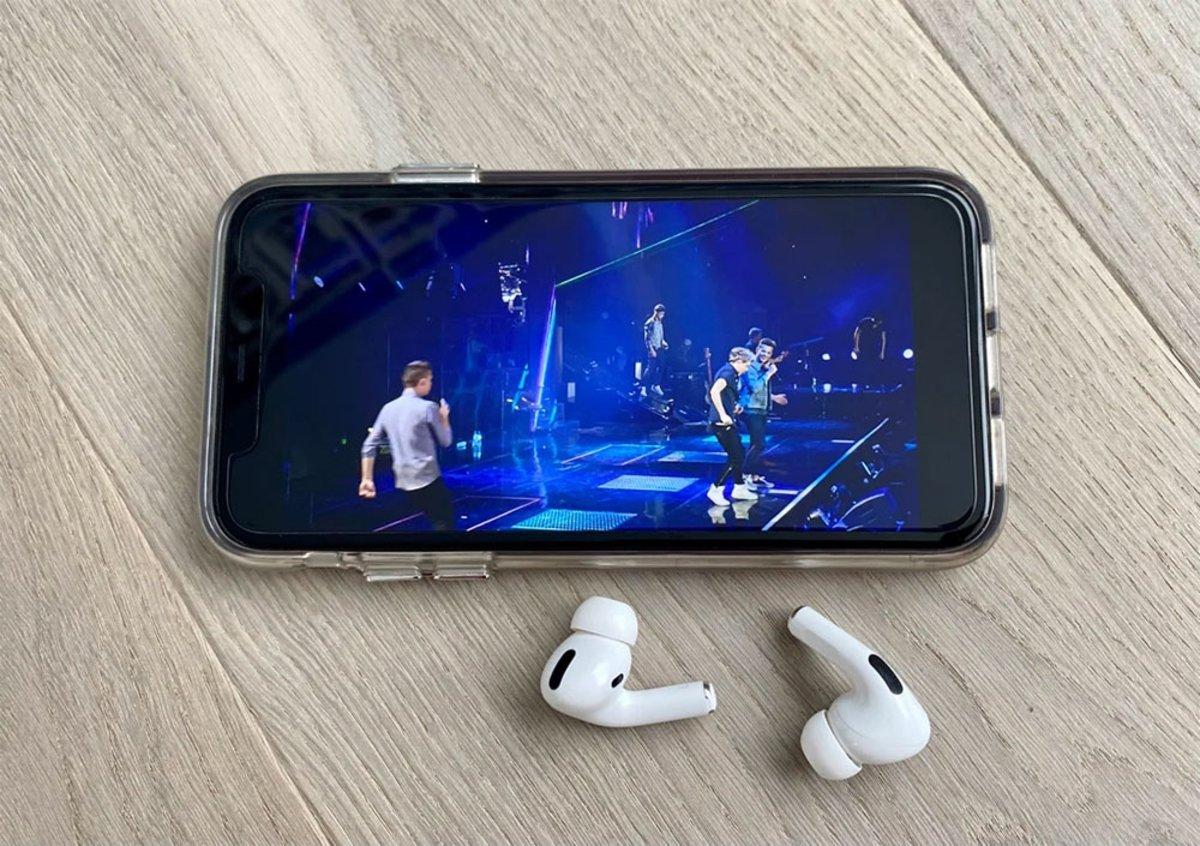 Audio espacial AriPods en iPhone