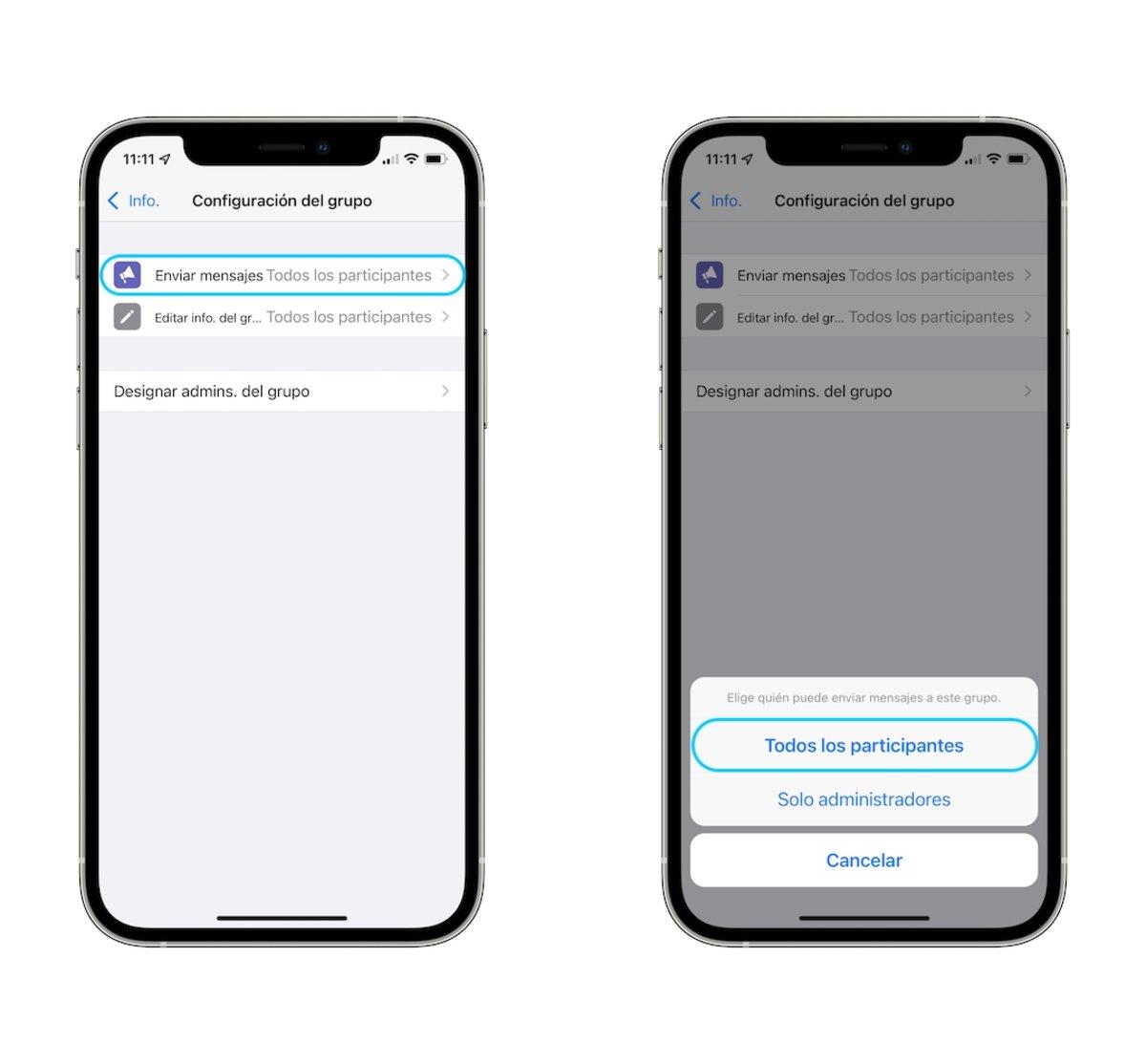 bloquear persona grupo whatsapp