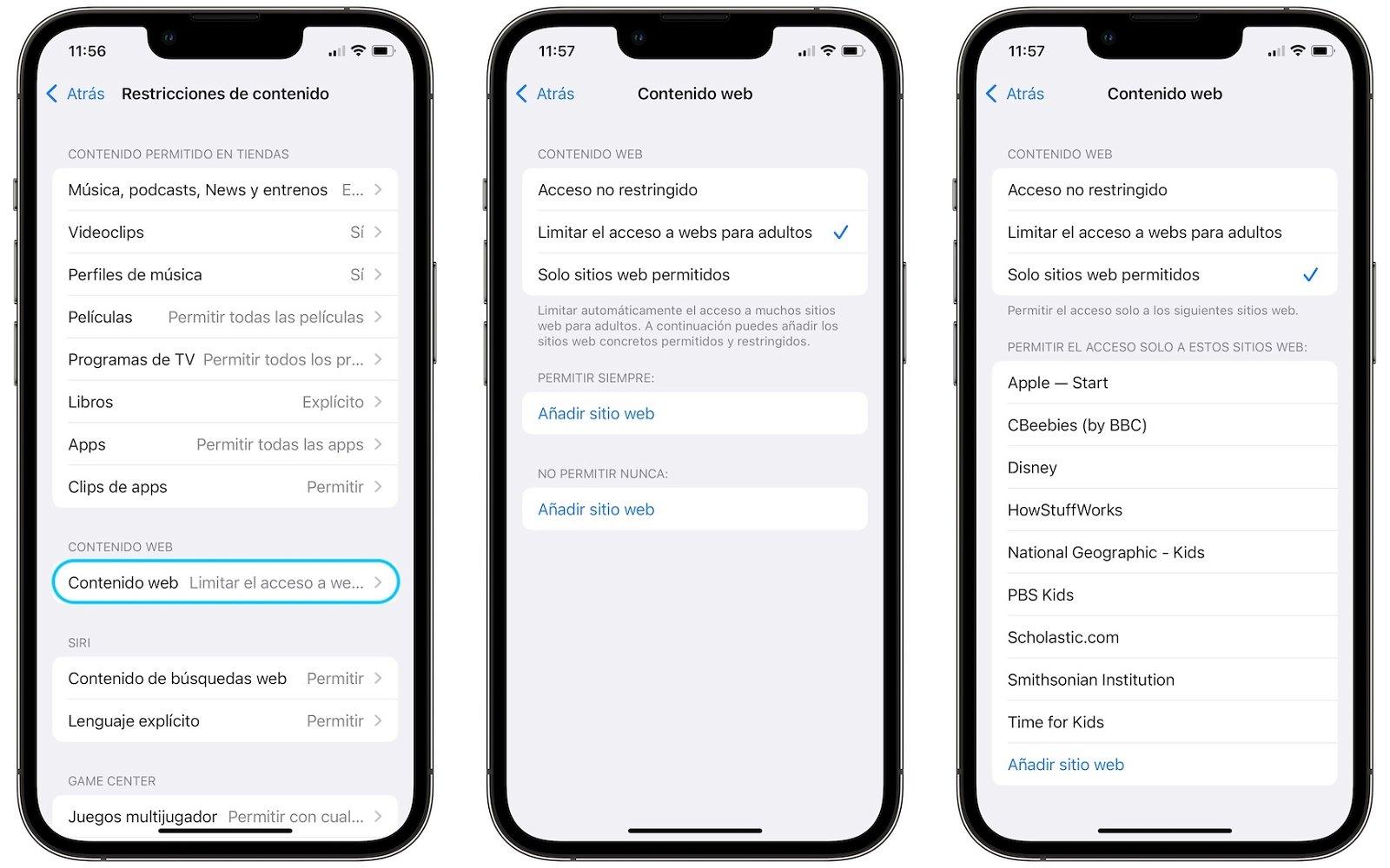 iPhone-Websites blockieren