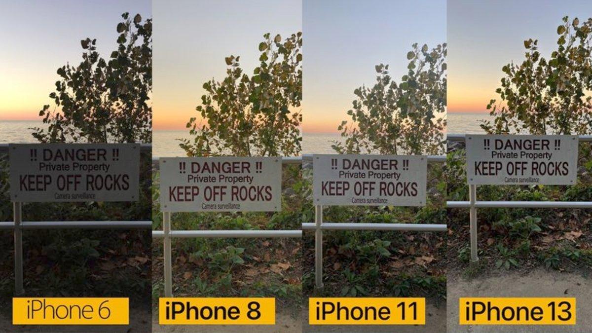 Comparación de cámaras: del iPhone 6 al iPhone 13