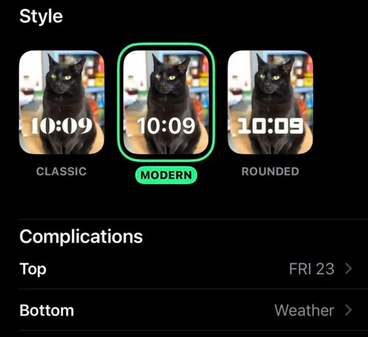 Configurar esfera Retratos Apple Watch en iPhone