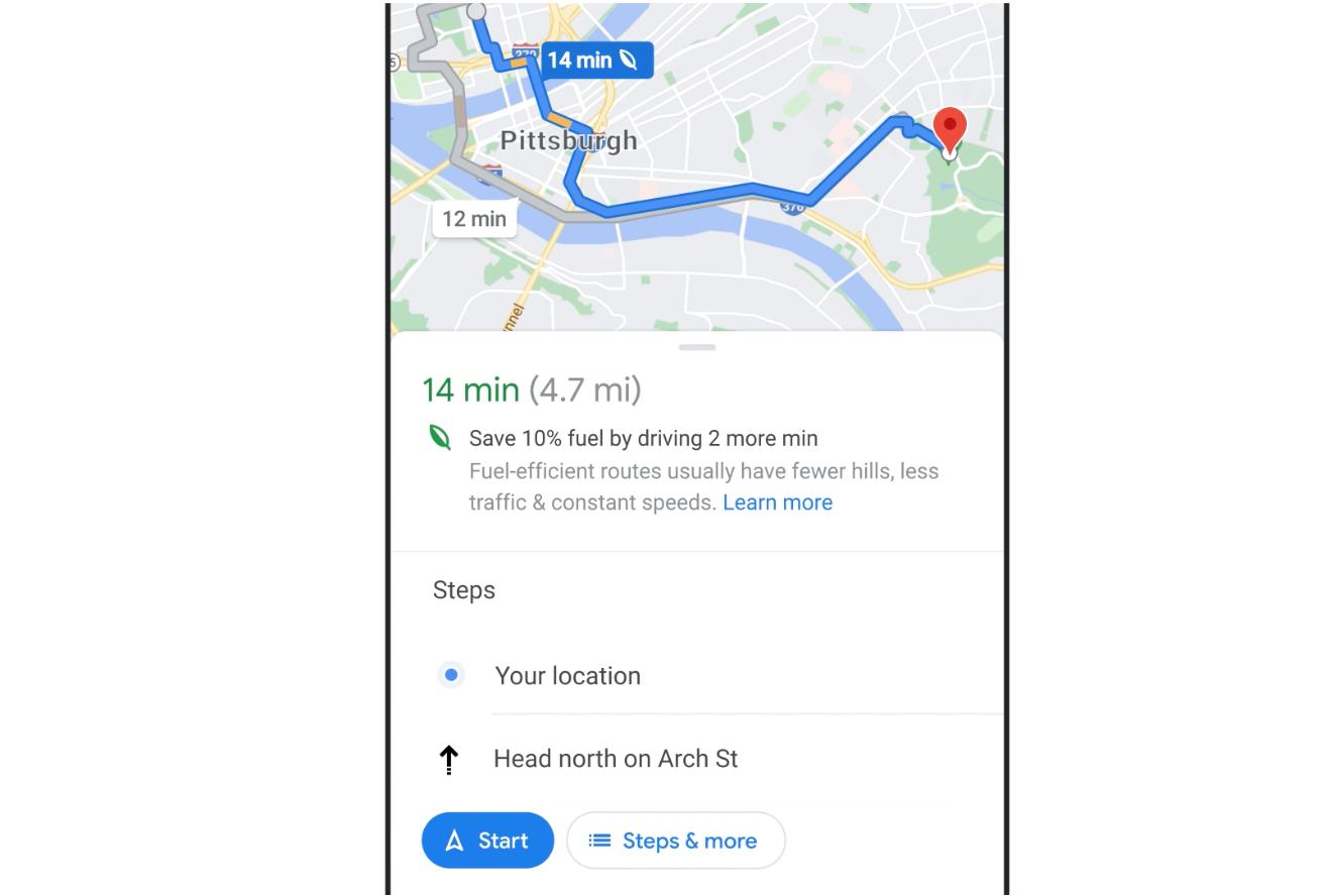 ruta ecologica google maps